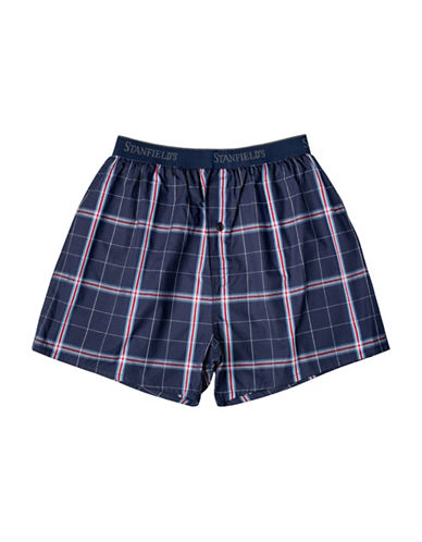 StanfieldS Plaid Woven Boxers-PINK-Small