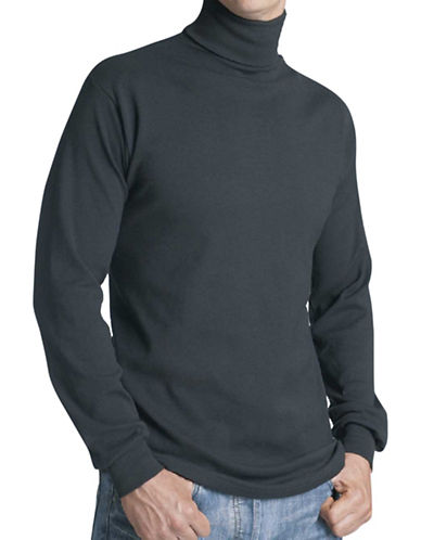 StanfieldS Rib-Knit Turtleneck-NAVY-Large