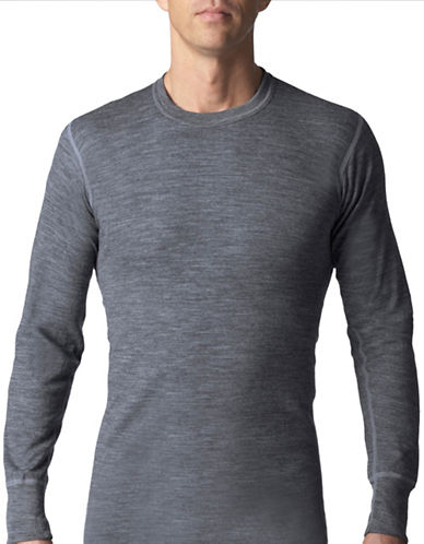 StanfieldS Two Layer Long Sleeve Shirt-CHARCOAL MIX-Medium