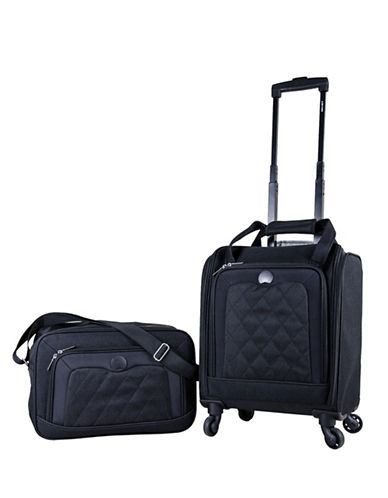 Delsey Valence Quilted 2-Piece Luggage and Tote Bag Set-BLACK-2 Piece