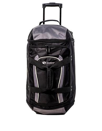 Samboro Samboro 21 Inch Trolley Duffle Suitcase-BLACK-21
