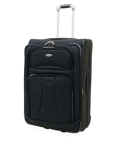 Westjet Navigator 26 Inch Expandable Upright Suitcase-BLACK-26 in