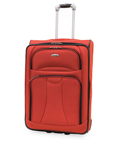 Westjet Navigator 26 Inch Expandable Upright Suitcase-ORANGE-26 in