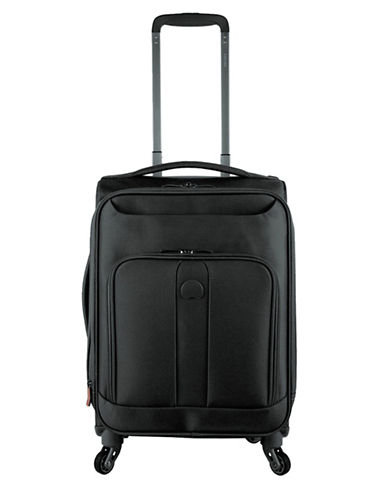 Delsey 19-Inch Horizon Expandable Spinner Suitcase-BLACK-19