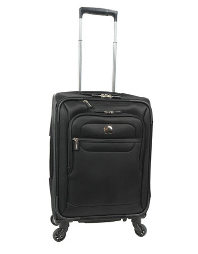 Delsey Helium Sky 2.0 18-Inch Spinner Suitcase-BLACK-18