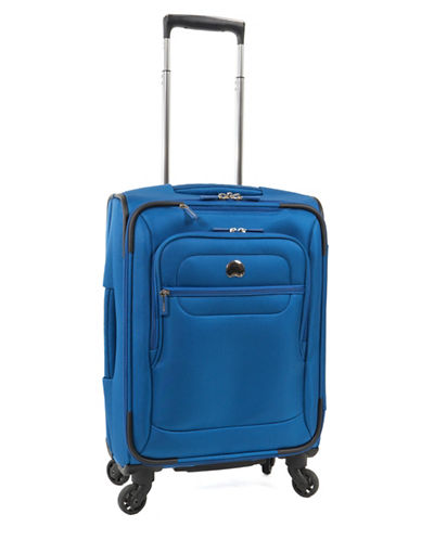 Delsey Helium Sky 2.0 18-Inch Spinner Suitcase-BLUE-18
