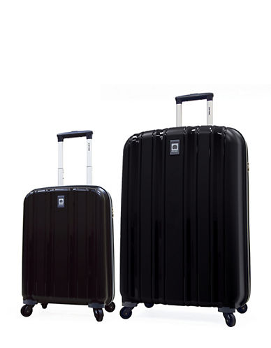 Delsey Cervin Collection Two-Piece Luggage Set-BLACK-2 Piece