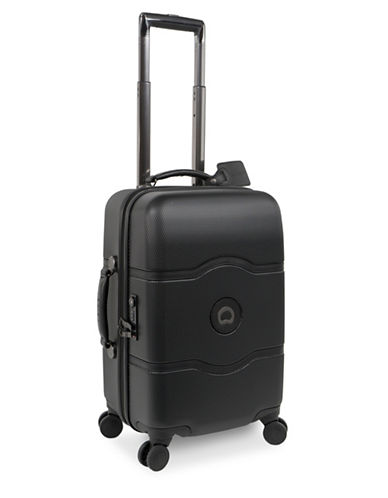 Delsey Chatelet Plus 19-Inch Carry-On Spinner Luggage-BLACK-One Size