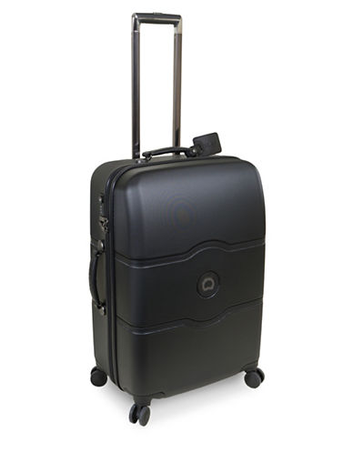 Delsey Chatelet Plus 24-Inch Spinner Trolley Luggage-BLACK-24