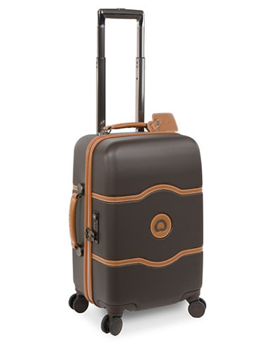 Delsey Chatelet Plus 19-Inch Carry-On Spinner Luggage-BROWN-One Size