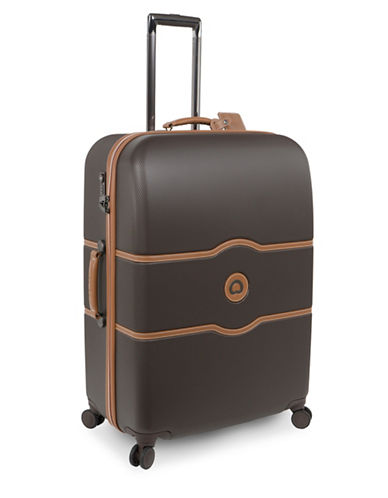 Delsey Chatelet Plus 28-Inch Spinner Trolley Luggage-BROWN-28