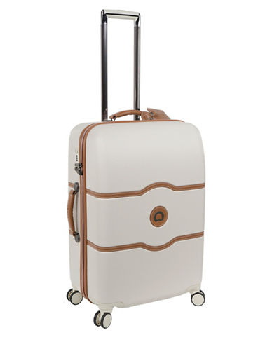 Delsey Chatelet Plus 24-Inch Spinner Trolley Luggage-CHAMPAGNE-24
