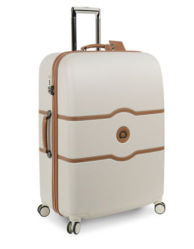 Delsey Chatelet Plus 28-Inch Spinner Trolley Luggage-CHAMPAGNE-28