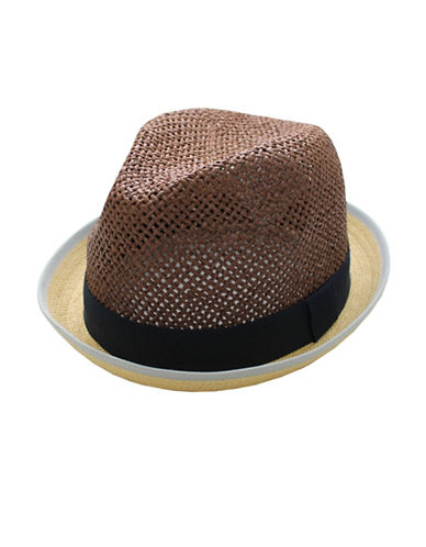 Hudson North Rolled Brim Fedora-NATURAL-Small/Medium