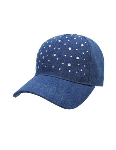 Fits Rhinestone Denim Baseball Cap-BLUE-7-14