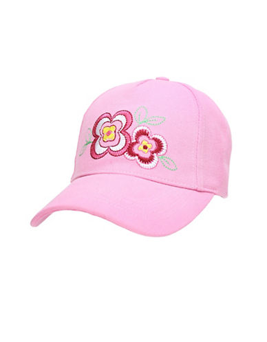 Fits Floral Embroidered Ball Cap-PINK-7-14