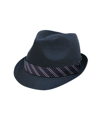 Fits Twill Fedora and Removable Fabric Bands Set-BLUE-4-6