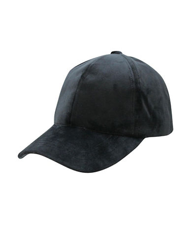 1670 Velour Baseball Cap-BLACK-One Size