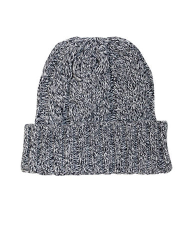 1670 Cable-Knit Cotton Beanie-GREY-One Size
