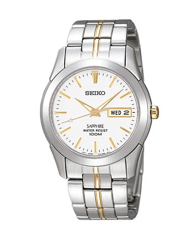 Seiko Mens Two Tone Stainless Steel Watch-TWO TONE-One Size