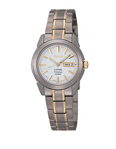 Seiko Classic Two-Tone Titanium Watch-TWO TONE-One Size