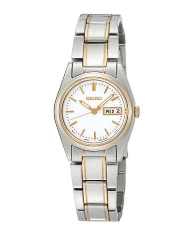 Seiko Seiko Two Tone Stainless Steel Watch-TWO TONE-One Size