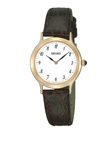 Seiko Seiko Brown Leather Watch-BROWN-One Size