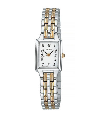 Seiko Core Two-Tone Stainless Steel Link Bracelet Watch-TWO TONE-One Size