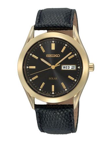 Seiko Mens Solar Watch-BLACK-One Size