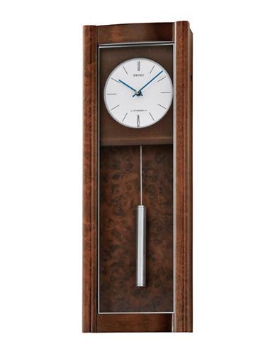 Seiko Alder Musical Wall Clock-BROWN-One Size