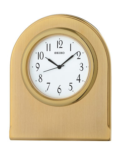 Seiko Rounded Goldtone Mantle Clock-GOLD-One Size