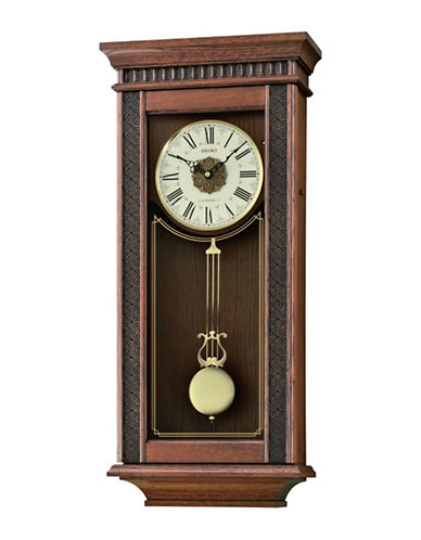 Seiko Oak Musical Wall Clock-BROWN-One Size
