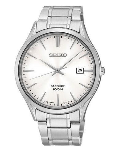 Seiko Seiko Men s Sapphire Quartz Watch-SILVER-One Size