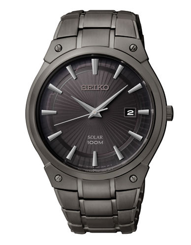 Seiko Seiko Men s Solar Watch-GREY-One Size