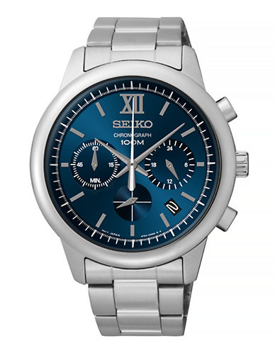 Seiko SSB137  Mens Chronograph-BLUE-One Size