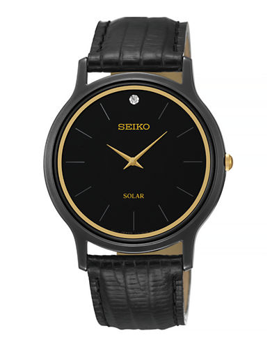 Seiko SUP875  Mens Solar-BLACK-One Size