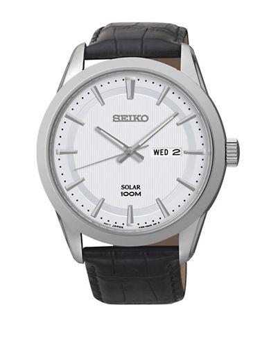 Seiko Solar SNE359S Analog Watch-BLACK-One Size
