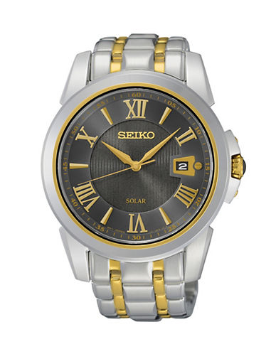Seiko Le Grand Sport Stainless Steel Solar Watch-TWO TONE-One Size