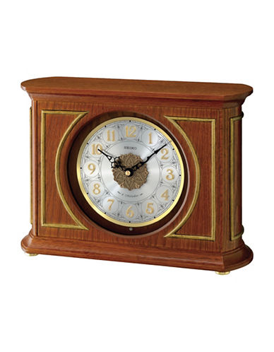 Seiko Musical HI-FI Mantle Clock-BROWN-One Size