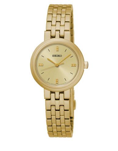 Seiko Quartz Goldplated Bracelet Watch-GOLD-One Size