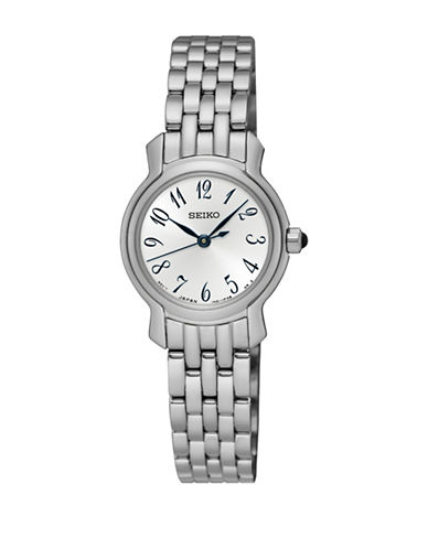 Seiko Analog Dress Stainless Steel Bracelet Watch-SILVER-One Size