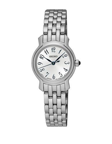 Seiko Analog Dress Stainless Steel Bracelet Watch-SILVER-One Size