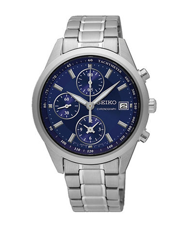 Seiko SNDV53 Stainless Steel Chronograph Watch-SILVER-One Size