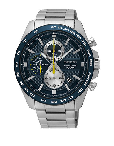 Seiko SSB259 Stainless Steel Chronograph Watch-SILVER-One Size