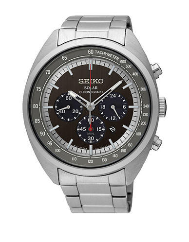 Seiko SSC621 Stainless Steel Solar Watch-SILVER-One Size