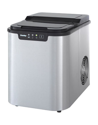 Danby Stainless Steel 2lb Ice Maker-STEEL-One Size