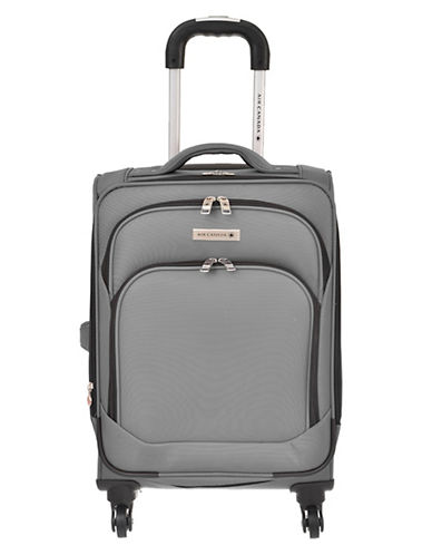 Air Canada Starlight 20-Inch Lightweight Spinner Suitcase-GREY-20