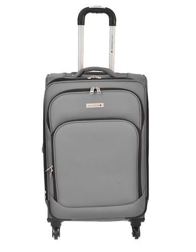 Air Canada Starlight 24 Inch Lightweight Softside Spinner Suitcase-GREY-24