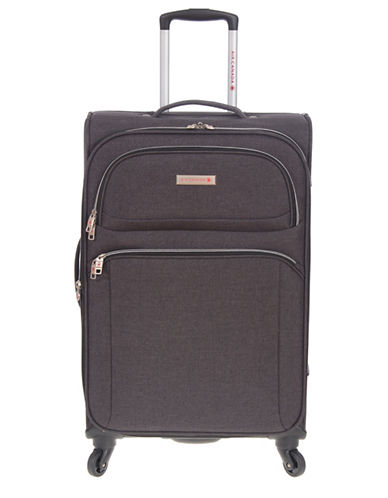 Air Canada Traveler 28-Inch Spinner Expandable Suitcase-GREY-24