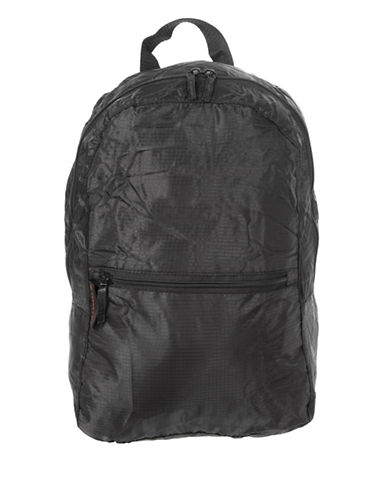 Image of Air Canada Fold-Away Travel Carry-On Backpack-BLACK-One Size